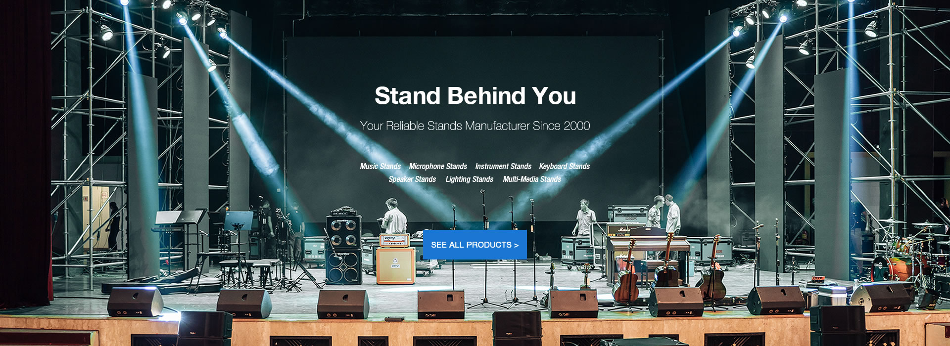 AWEDA, leading manufacturer of music stands, microphone and instrument stands, speaker stands, seats and accessories for lighting, sound and studio. Supply display system for music retail shop.